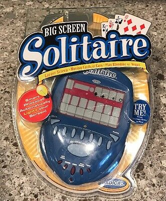 Radica Big Screen Solitaire Lighted Backlit Electronic Handheld Game 2004 UNDO