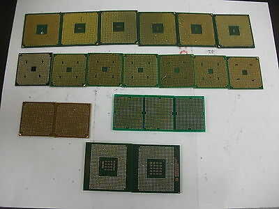 Lot of 20  LAPTOP CPU FOR GOLD SCRAP RECOVERY AMD/INTEL