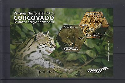 Costa Rica 2014 Scott 662 MNH Endangered Cats