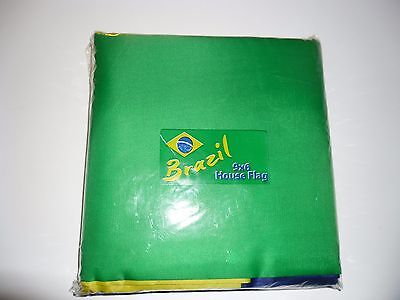 BRAZIL BRAZILIAN NATIONAL FLAG VERY LARGE 'HUGE' 9 x 6FT BANDEIRA DO BRASIL