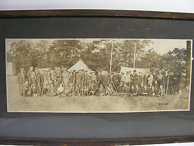 SCARCE ANTIQUE SIGNED 1800s PANORAMIC PHOTOGRAPH PHOTO SURVEYORS CANADA FRAMED
