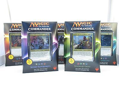 Magic the Gathering MTG 2016 Commander Decks Lot of all 5 New Sealed English
