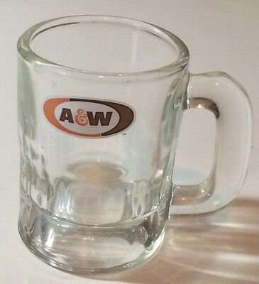 """A&W small root beer glass mug 3 1/8"""""""
