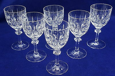 Gorham Aspen Crystal Set of (7) Wine Glasses or Goblets, 6""