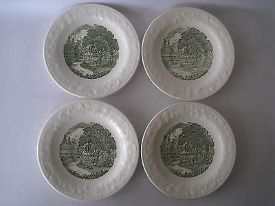 "4 Vintage Pastoral Taylor Smith & Taylor And  Homer Laughlin 6 1/2"" Plates"