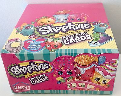 Shopkins Series 3 Collector Cards Sealed Box 36 Packs Per Box