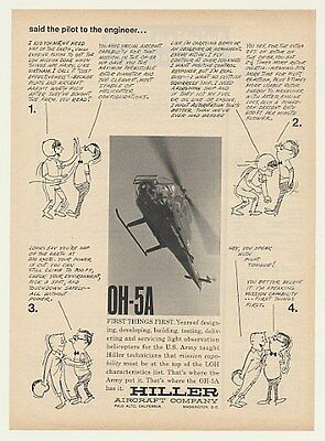 1964 US Army Hiller OH-5A Helicopter Pilot Engineer Ad