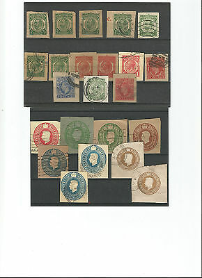 Embossed Postal Stationery Lot, Gb, On Cards. * 9 Images.