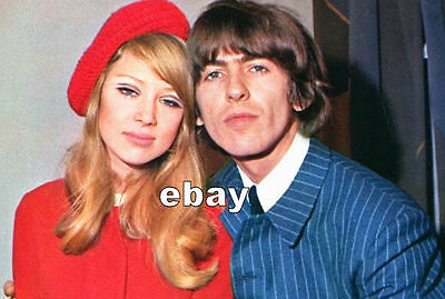 George Harrison & Pattie Boyd 1966 After Wedding Press Conference Beatles Photo