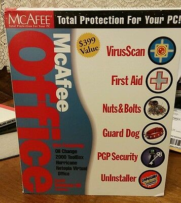 McAfee Office Software 98 Total Protection for Your PC