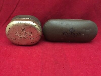 Vintage Antique 2 Willson Goggle Cases Only.  Auction Find.