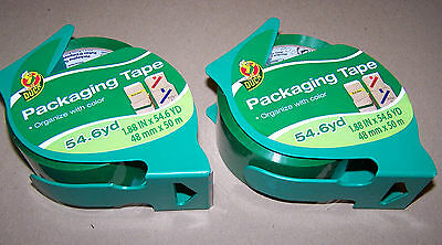 "2 Rolls Green Colored Duck packaging Tape 1.88"" Wide 54.6 Yard 48mm X 50m 317830"