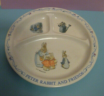 PETER RABBIT AND FRIENDS Divided Melamine Plate by EDEN