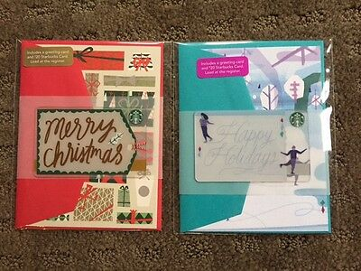 "Canada Series Starbucks ""HAPPY HOLIDAYS & MERRY CHRISTMAS 2016"" Card Sets - NEW"