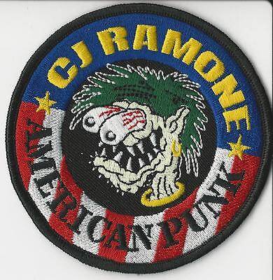 C.J. Ramone-American Punk Embroidered Patch