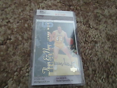 Jerry West AUTOGRAPHED card Los Angeles Lakers authenticated by JSA