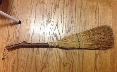 Rare Folk Art Handmade Antique Hearth Fireplace Appalachian Broom