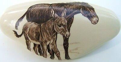Ceramic Cabinet Drawer Pull W/ Donkey Mule Burro Misc