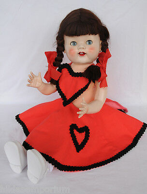 PEDIGREE HARD PLASTIC DOLL 21 inches  MADE IN ENGLAND 1950