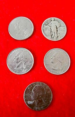 Lot of 5 US Quarters
