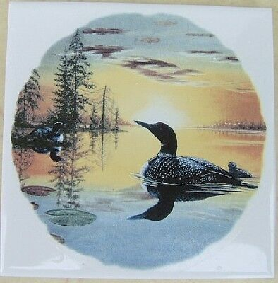 Ceramic Tile Loon #3 Loons bird