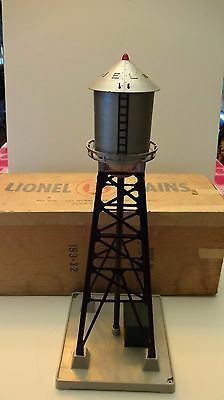 Lionel Postwar 193 Black Industrial Water Tower  With Blinker Light (Rare)-Box