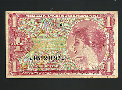 $1 USA Military Payment Certificate Vietnam MPC 641 Army M61 Marine Navy Soldier