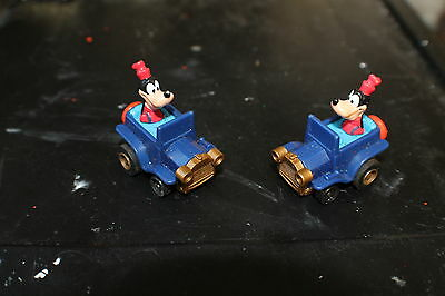 Disney Character Goofy in Car /PVC Figure / Vintage pull back works fine 2 CARS