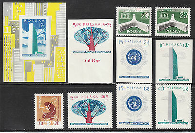 Poland 1958 Issues, VF MNH/MH - Nice !!!