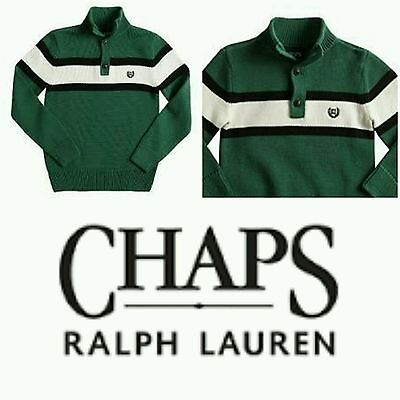 Chaps Button Front Striped Sweater Boy's, NWT
