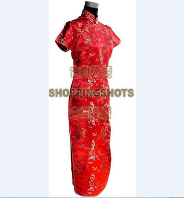 chinese cheongsam Dragon Phoenix gown qipao dress 070304 6 colors size 30-38