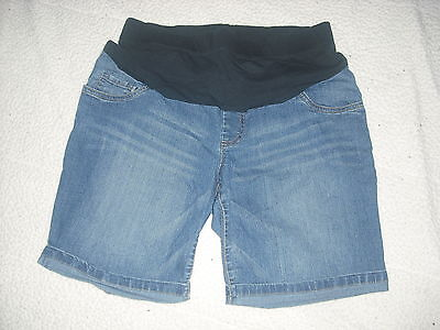 Womens Oh Baby by Motherhood Maternity Denim Shorts Size L Large