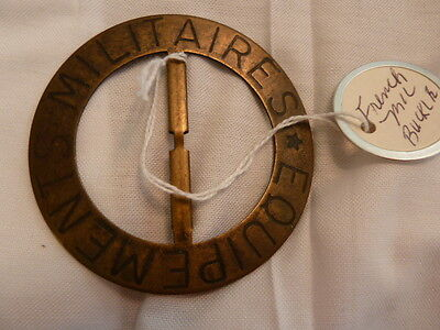 Rare Early Brass WWII French Militaires Equipements Badge Hard to Find!!!!!L@@K!