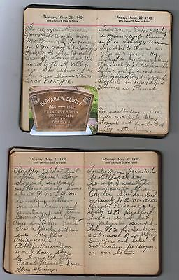 1938 1940 HANDWRITTEN YOUNG WOMAN'S  DIARY LOT ~ Northport, Waldo, Maine History