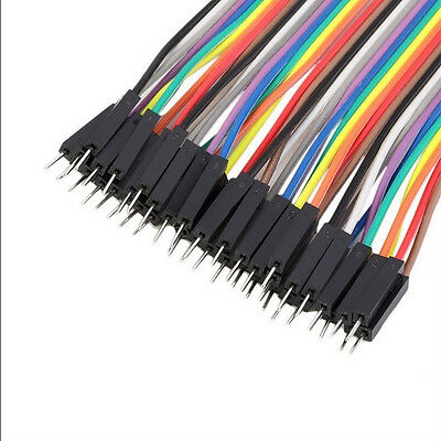 40Pc 2.54MM Male To Female Jumper Wire Dupont Cable For Arduino Breadboard 1p-1p