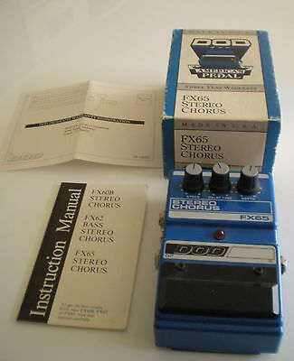 Vtg DOD FX65 Stereo Chorus Guitar Pedal Excellent Condition w/ Box & Paperwork