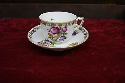 Antique /vintage Herend Hungary Demitasse Porcelain Tea Cup And Saucer 149