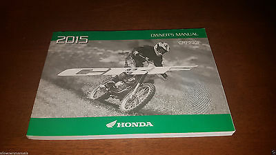 2015 New Honda Crf230 Crf 230F Genuine Owners Operation Manual Book / Guide