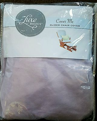 NEW Luxe Basics Cover Me Glider Chair Cover, Lavender