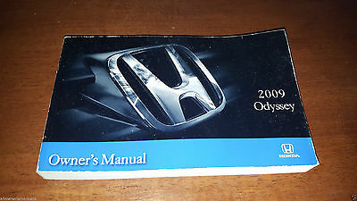 2009 New Honda Odyssey Owners Operation Manual Book / Guide