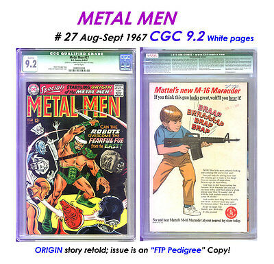 "Metal Men # 27 Cgc 9.2 Wp + Origin Tale + ""pedigree"" + Reader! A$K $167 = Cheap!"