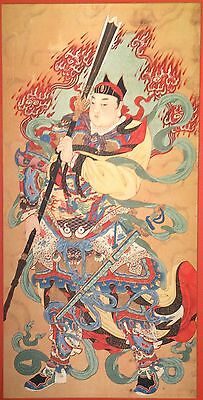 Superb Japanese Silk Samurai Shogun Warrior Art Painting Vintage Old Antique?