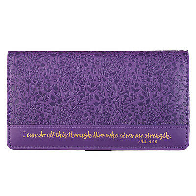 Checkbook Cover I Can Do All This Through Him Who Gives Me Strength Phil. 4:13