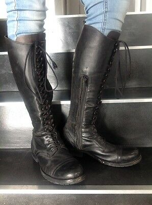 All saints womens black leather boots