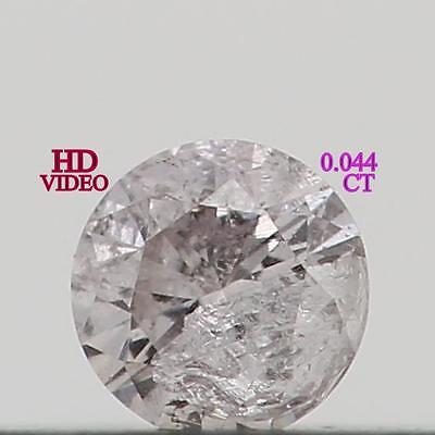 0.044 Cts Natural Loose Diamond Round Shape H Color I1 Clarity K1628