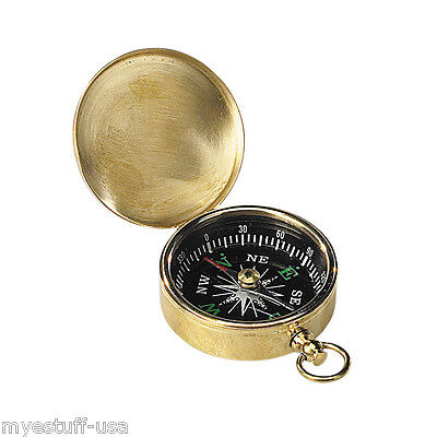 Small Brass Pocket Compass - Authentic Models - CO002