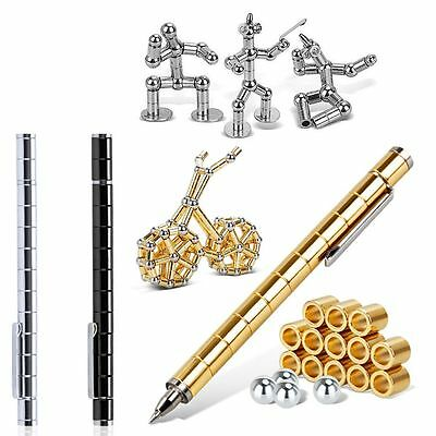 Polar Style Modular Neodymium Magnetic Pen With Stylus 12 Balls Gift in Box US
