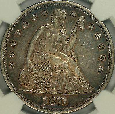 1871 Seated Liberty Dollar NGC AU50