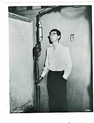 Buddy Holly In The Studio Singing Photo