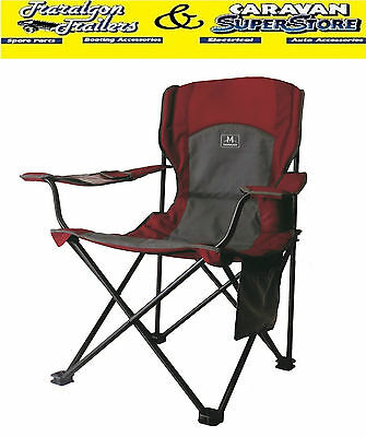 BBQ chair seat camping camp fishing with drink holder 140kg Phone pouch CC7